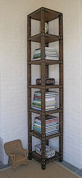 Custom reed art bookshelf
