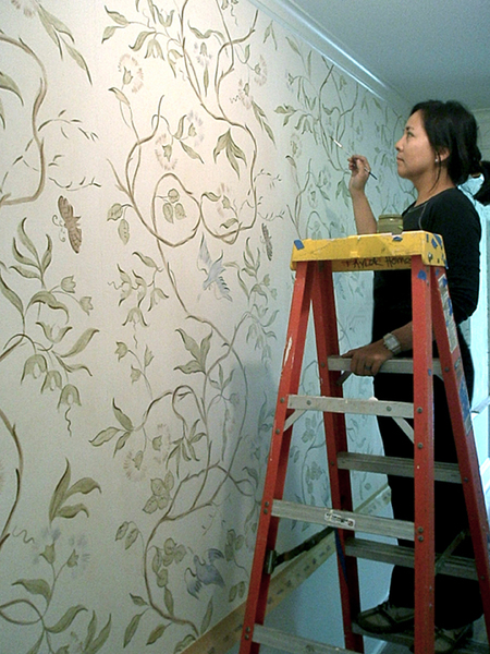 MJ Atelier hand painted swedish wall covering