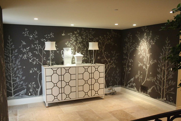 MJ Atelier hand painted wall covering