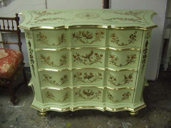 MJ Atelier painted chinoiserie dresser