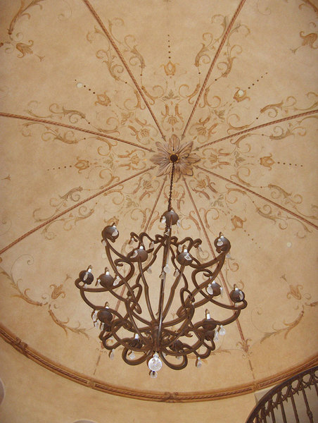 Hand painted dome in the florentine style - detail